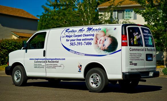 magic carpet cleaning van